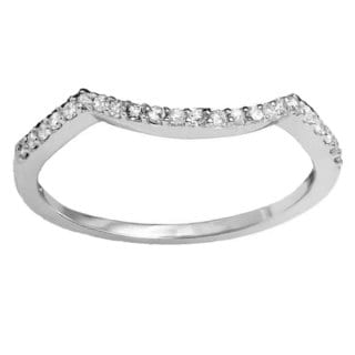 14k Gold 1/6ct TDW Round-cut Diamond Anniversary Wedding Stackable Band Contour Guard Ring (I-J, I2-I3)