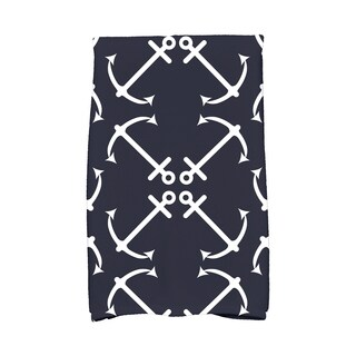 16 X 25-inch Anchor's Up Geometric Print Hand Towel