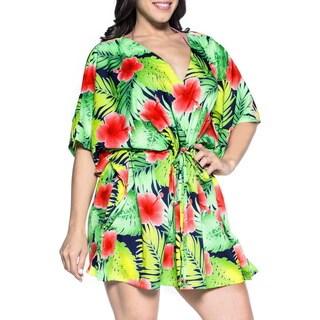 La Leela Women's 2-in-1 Robe Likre Kaftan Swimwear Coverup Tunic