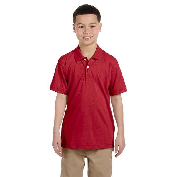 Easy Blend Boys' Red Cotton/Polyester Polo Shirt