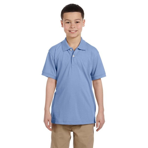 Easy Blend Boys' Light College Blue Polo Shirt