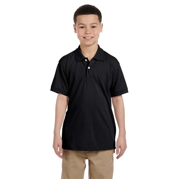 Easy Blend Boys' Black Polo Shirt
