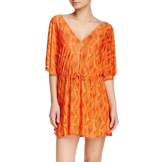 Vix Menfis Lina Orange Polyester Caftan Coverup