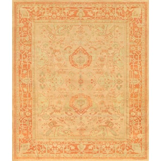 Pasargad Turkish Oushak Hand-knotted Peach-rust Wool Rug (10' x 12')