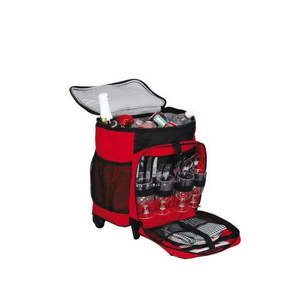 Goodhope Picnic on the Go Rolling Cooler Tote Bag