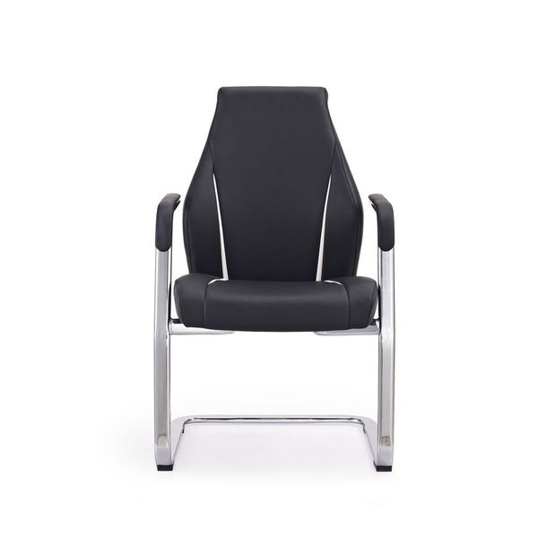 Stanford Black Faux Leather Visitor Office Chair