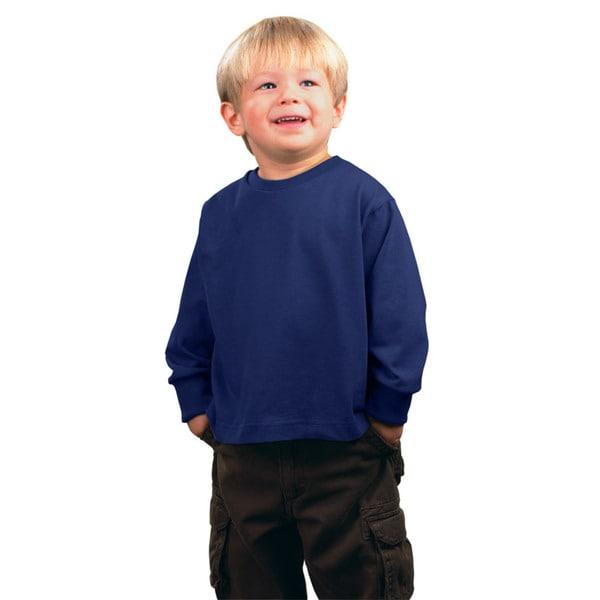 Boys' Navy Jersey Long-sleeve T-shirt