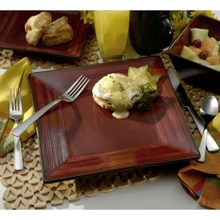 Oneida Adriatic Red 32-Piece Dinnerware Set, Service for 8