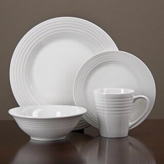 Oneida Continuum White Porcelain 32-piece Dinnerware Set (Serves 8)