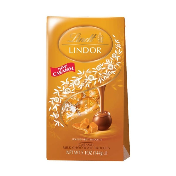 Lindor Caramel Milk Chocolate Truffles (6-bag Case)