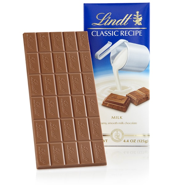 Lindt Classic Recipe Milk Chocolate Bar, 12ct