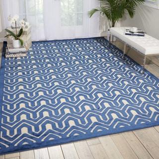 Nourison Ultima Ivory/Blue Area Rug (7'6 x 9'6)