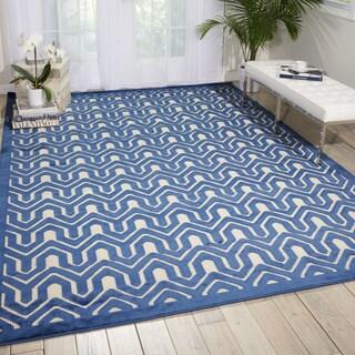 Nourison Ultima Ivory/Blue Area Rug (7'9 x 10'10)