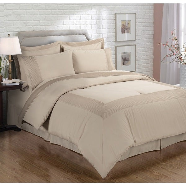 EverRouge Manson Manor Luxury 8-piece Cal-King Size Bed in a Bag in Mocha (As Is Item)