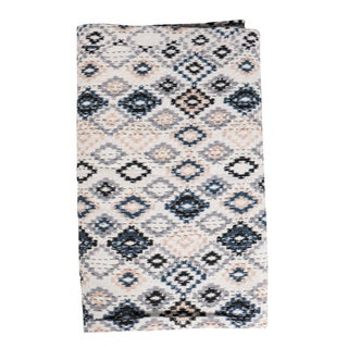Vintage Kantha Indian Handmade Blue and White Throw Bedspread (India)