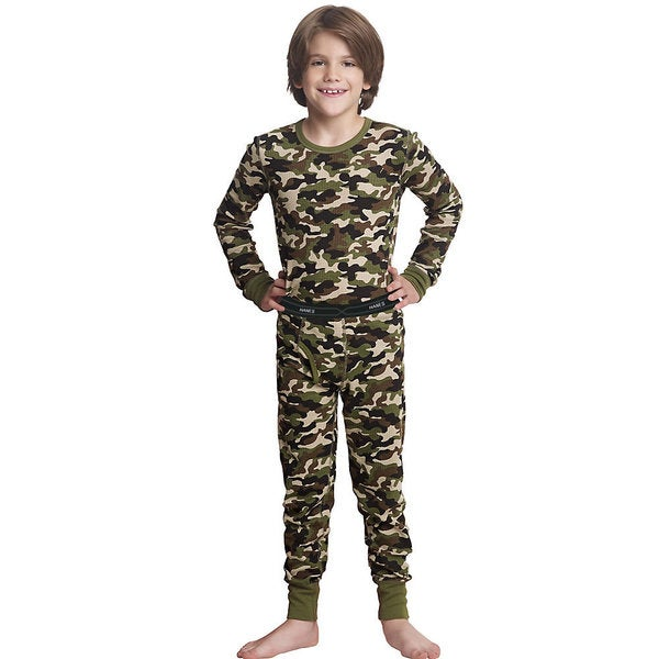 X-Temp Boys' Camo Thermal Set