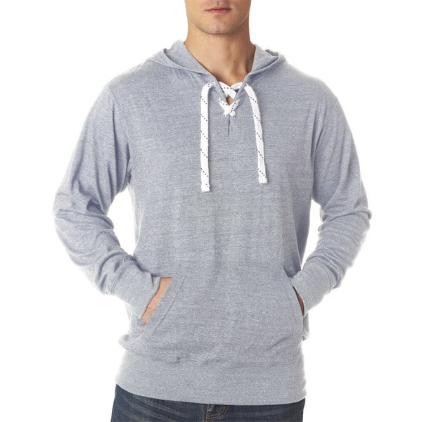 Men's Sport Jersey Lace Hooded Sweatshirt
