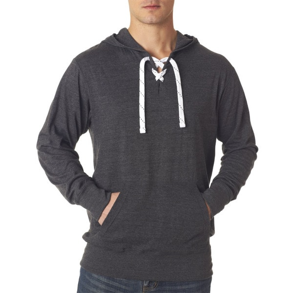 Sport Men's Charcoal Grey Cotton Lace Jersey Hoodie