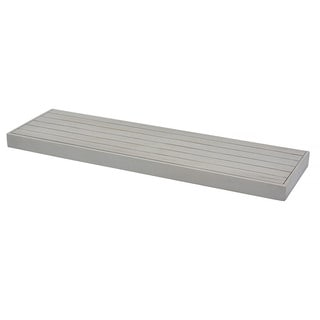 Rustic Grey Wood 9.25-inch x 31.5-inch x 1.5-inch Slat Shelf