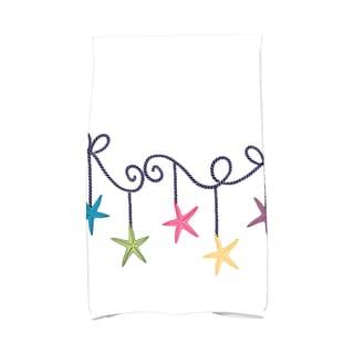 16 x 25-inch, Starfish Ornaments, Holiday Geometric Print Kitchen Towel