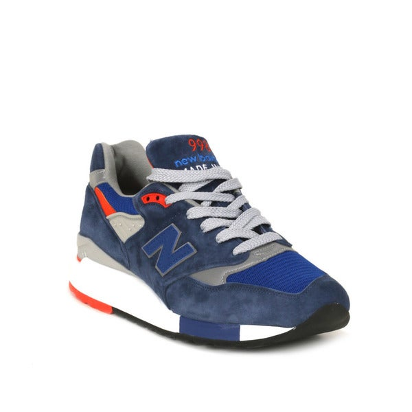 New Balance Navy with Silver & Orange 998 Heritage