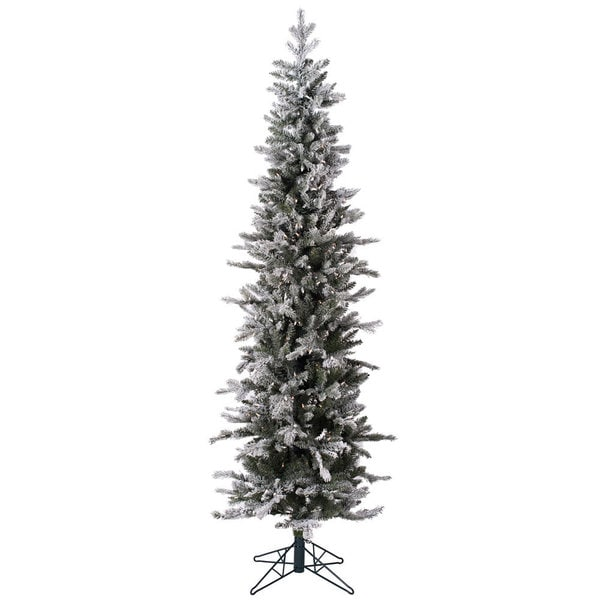 Frosted Glitter Tannenbaum Pine 7-Foot Artificial Christmas Tree With 300 Warm White LED Lights