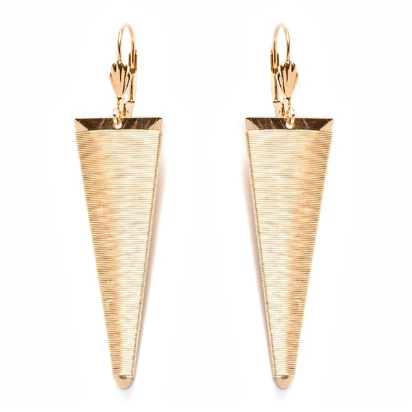 18k Gold-plated Triangle Drop Earrings