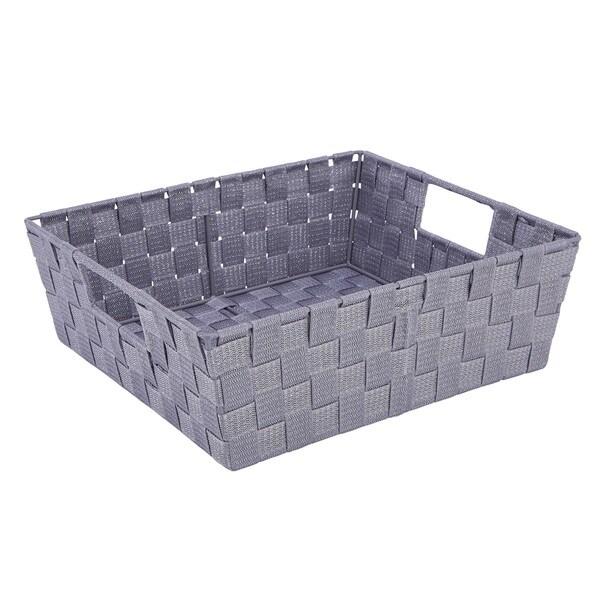 Simplify Lilac Purple Lurex Large Striped Woven Strap Shelf Tote