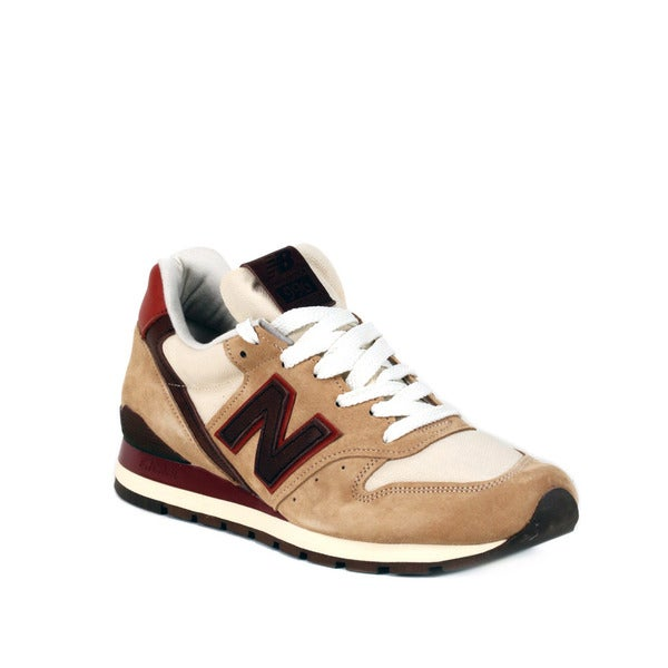 New Balance Khaki with Brown & Burgundy 996 Distinct Mid-Century Modern