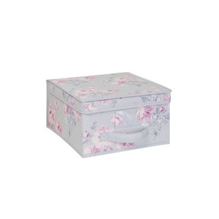Laura Ashley Beatrice Pink/Grey Medium Non-woven Storage Box