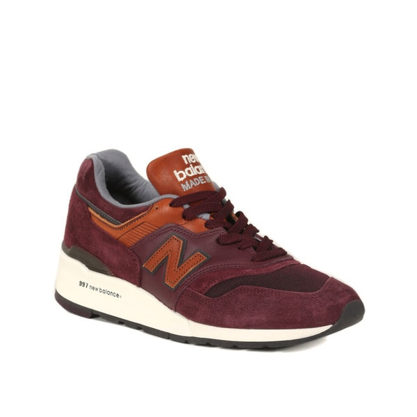 New Balance Burgundy with Cathay Spice 997 Distinct Retro Ski