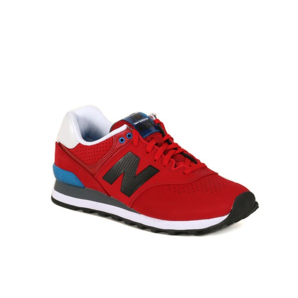 New Balance Red With Blue 574 Paint Chip