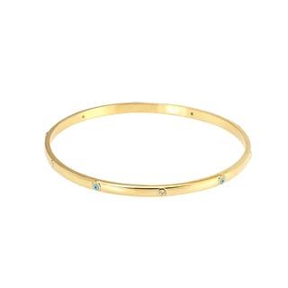 Women's Yellow Evil Eye Bracelet with Cubic Zirconia