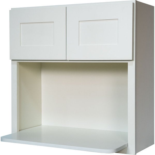 Everyday Cabinets 30-inch White Shaker Microwave Wall Kitchen Cabinet