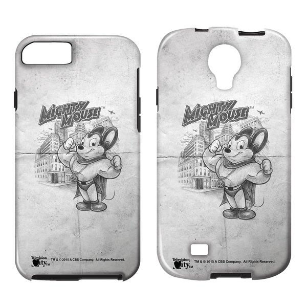 Mighty Mouse/Sketch Tough/Vibe Smartphone Case (Multiple Devices) in White