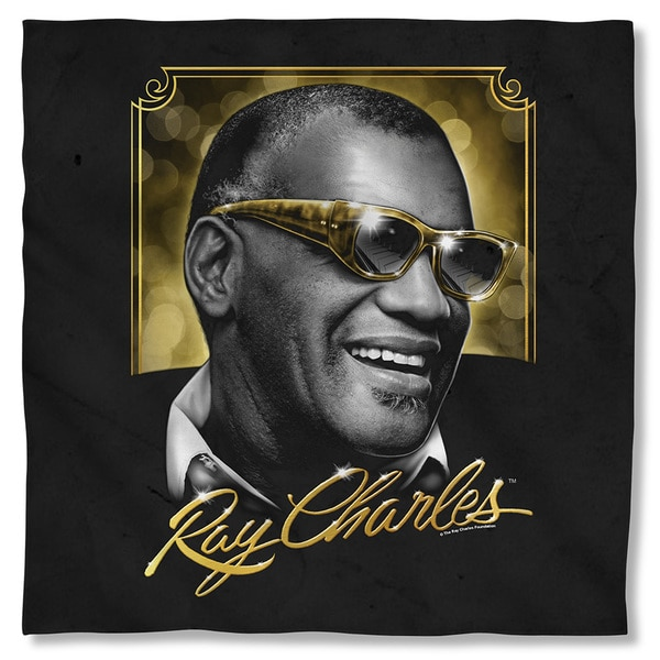Ray Charles/Golden Glasses Polyester Bandana 19816092