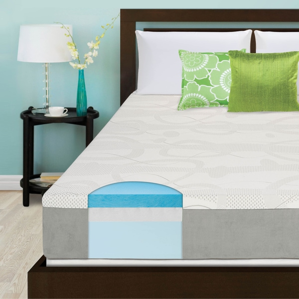 Slumber Solutions Shoose Your Comfort 10-inch California King-size Gel Memory Foam Mattress