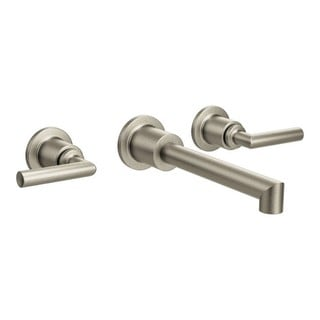 Moen Arris Wall Mount Bathroom Faucet TS43003BN Brushed Nickel