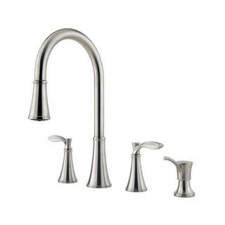 Pfister Petaluma Widespread Kitchen Faucet F-531-4PAS Stainless Steel