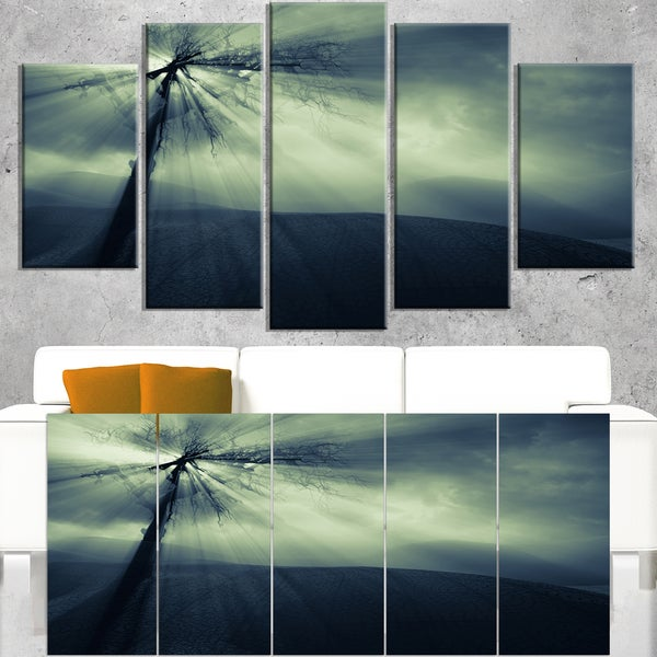 Dead Tree in the Mysterious Land - Modern Seascape Canvas Artwork