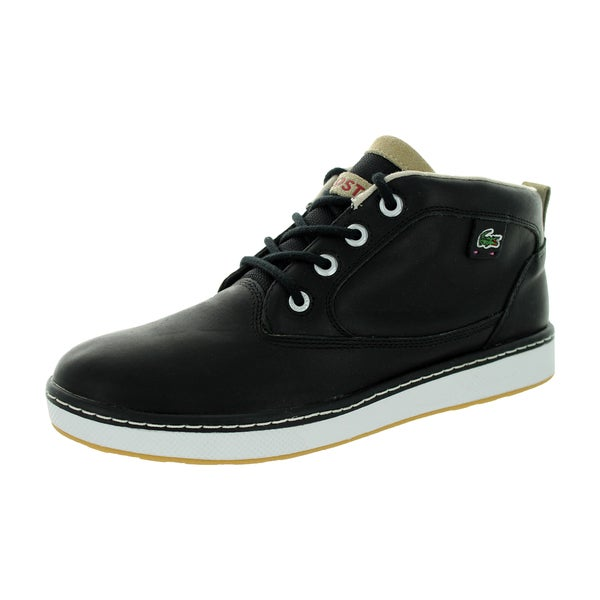 Lacoste Men's Keston Lms Lem Lth Black/Lt Tan Casual Shoe