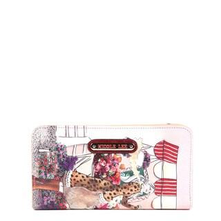 Nicole Lee Gitana Flower Leopard Vintage Print Wallet
