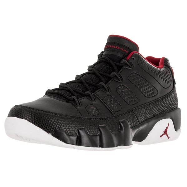 Nike Jordan Men's Air Jordan 9 Retro Low Black/Gym Red/White Basketball Shoe