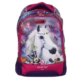 Nicole Lee 20.5-inch Leona Unicorn Rolling Laptop Backpack