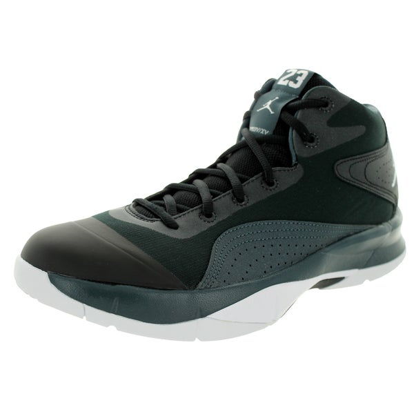 Nike Jordan Men's Jordan Court Vision 00 Black/White/Classic Charcl Basketball Shoe
