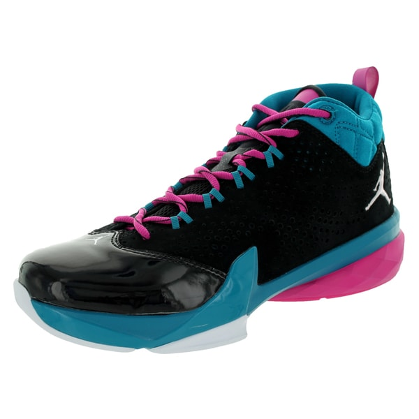 Nike Jordan Men's Jordan Flight Time 14.5 Black/White/Trpcl Teal/Fsn Pink Basketball Shoe