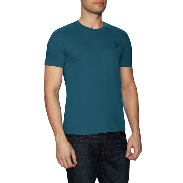 Versace Collection Teal Blue Crewneck T-shirt