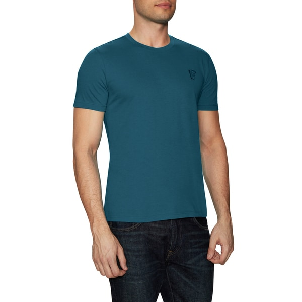 Versace Collection Teal Blue Crewneck T-shirt - Teal Blue 19825580