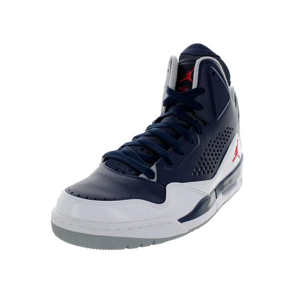 Nike Jordan Men's Jordan Sc-3 Mid Navy/Chllng Rd/White/Wlf Gr Basketball Shoe