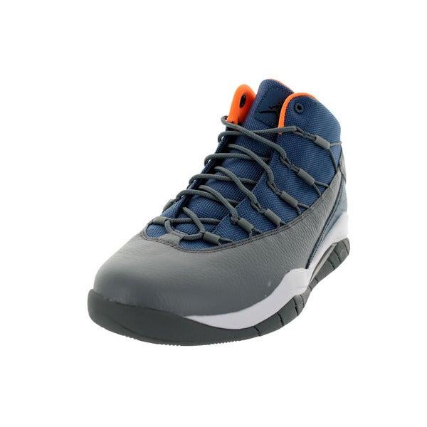 Nike Jordan Men's Jordan Prime Flight Nw Slate/Black/Cl Grey/Orange Basketball Shoe